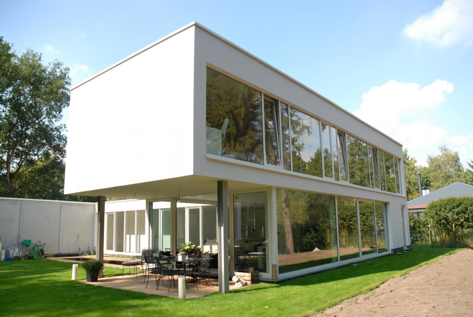 Prefab betonbouw brasschaat woning a concrete house for Energiezuinig huis
